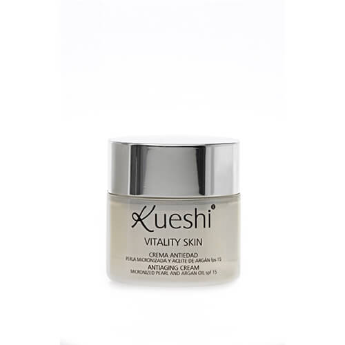 Kueshi Anti Aging Micronized Pearl and Argan Oil Cream SPF 15 Vitality Skin